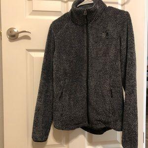 The North Face fuzzy fleece jacket